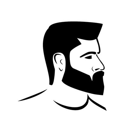 silueta masculina del icono del vector del estilo Ilustración de vector