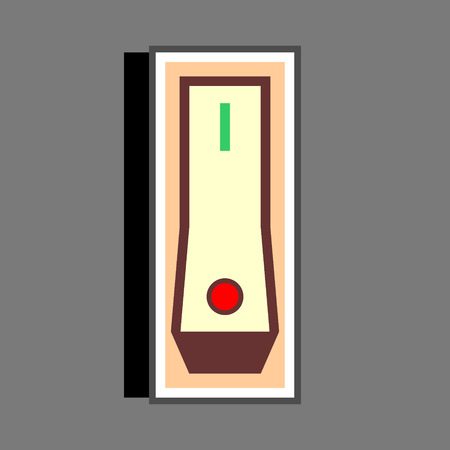 Switch on vector icon