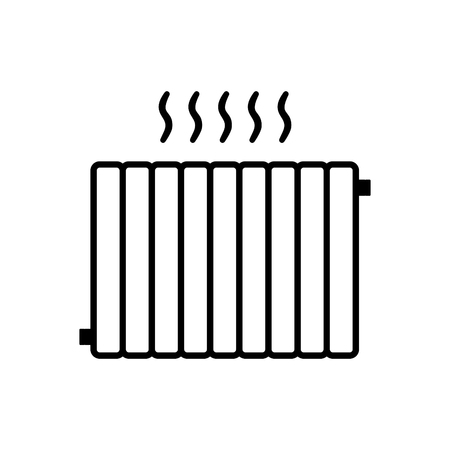 Heating systems vector icon