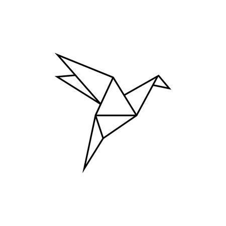 Origami Bird vector icon