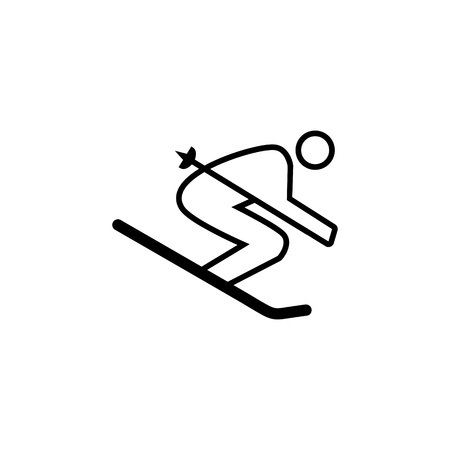 Skiing vector icon