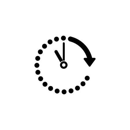 Paso del icono de vector de tiempo