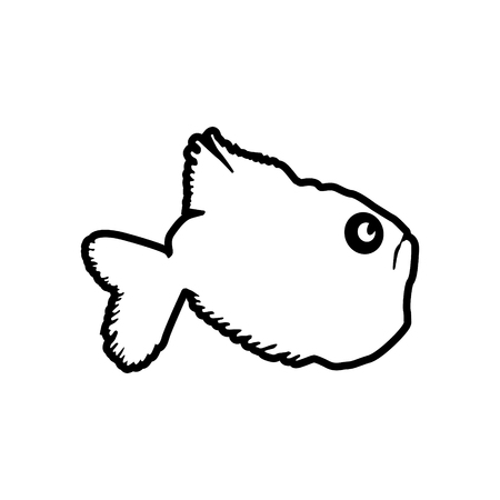 Ax Fish vector icon