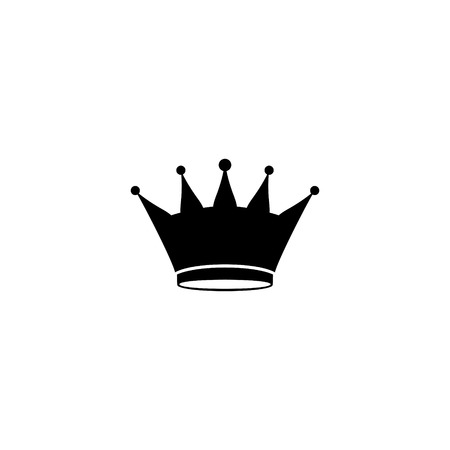 crown in a flat background of vector icon Illustration