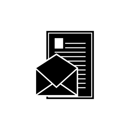 Email message with file vector icon