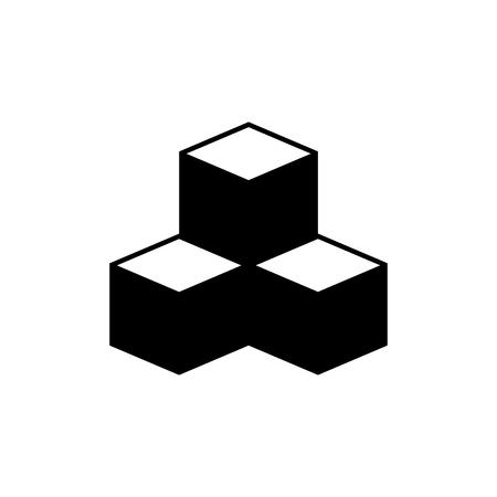Cubes vector icon
