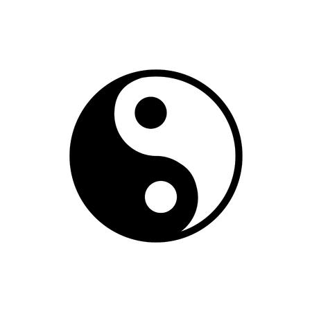 Yin Yang vector icon Illustration
