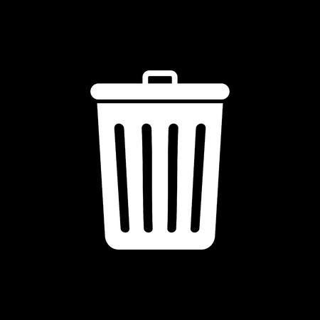 Recycling bin vector icon