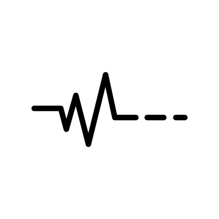 Heartbeat vector icon Иллюстрация