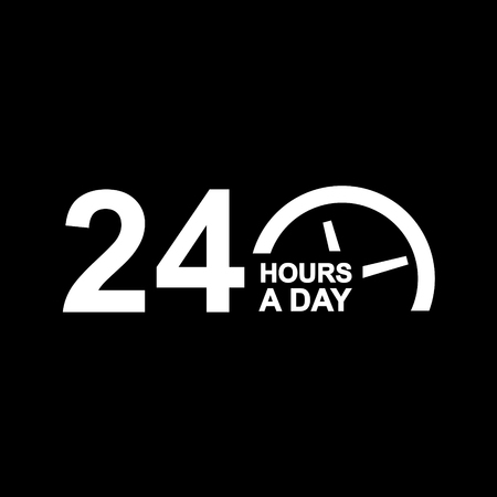 24 hours a day vector icon  イラスト・ベクター素材