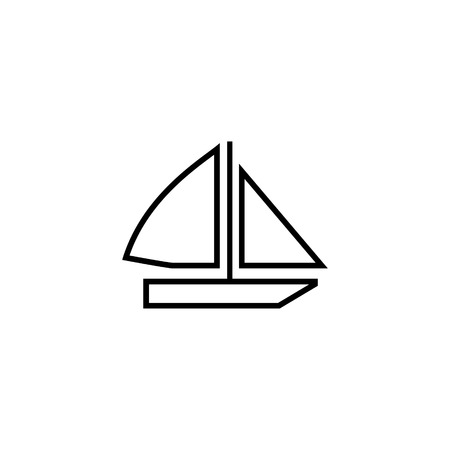 Sailing boat vector icon