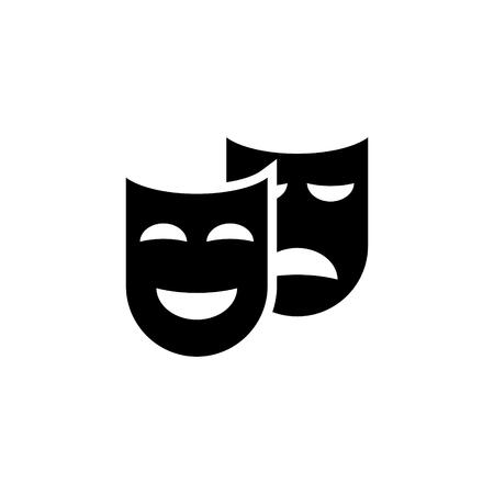 Theater masks couple vectror icon
