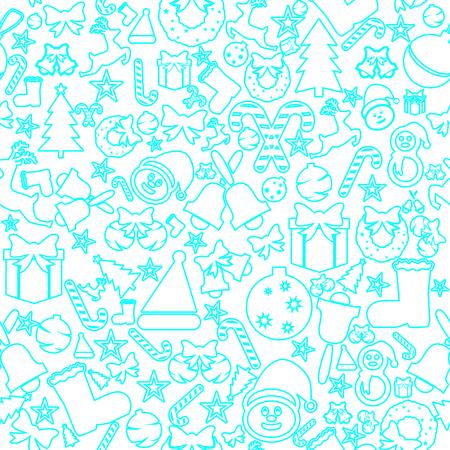 Christmas seamless icons. Decoration vector