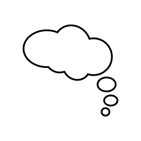 Thought bubble vector icon