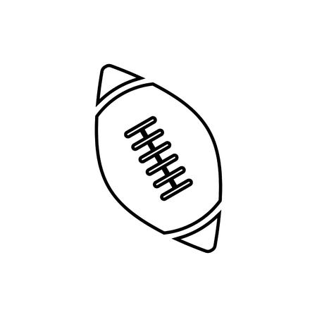 Ball of american football vector icon Illustration