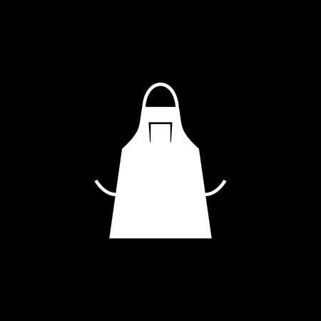 Apron silhouette vector icon Illustration