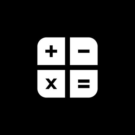 Icono de vector de teclas de calculadora