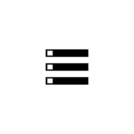 Menu mobile vector icon  イラスト・ベクター素材