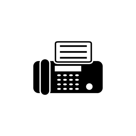 fax machine vector icon Illustration