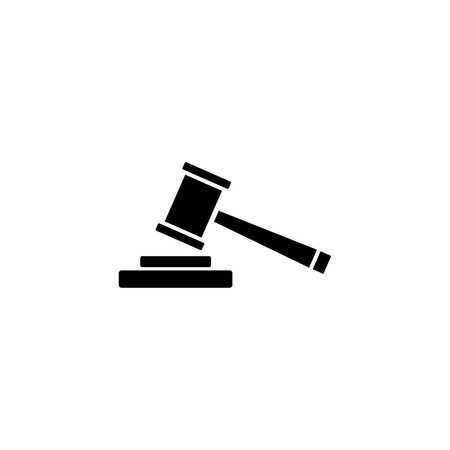 Law, gavel, auction vector icon