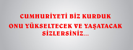 October 29 Republic Day Turkey. 29 ekim Cumhuriyet Bayrami.Translation: 29 october Republic Day Turkey Day. celebration republic, graphic for design elements. Vector illustration