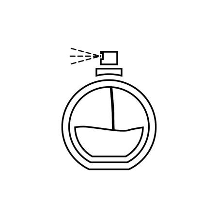 Perfume spray vector icon Illustration