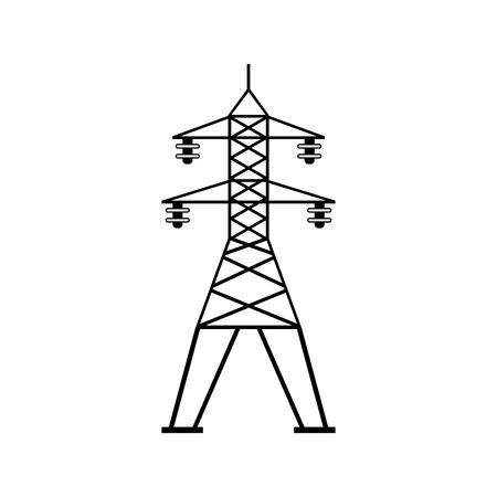 Icône de vecteur de communication de ligne électrique Vecteurs