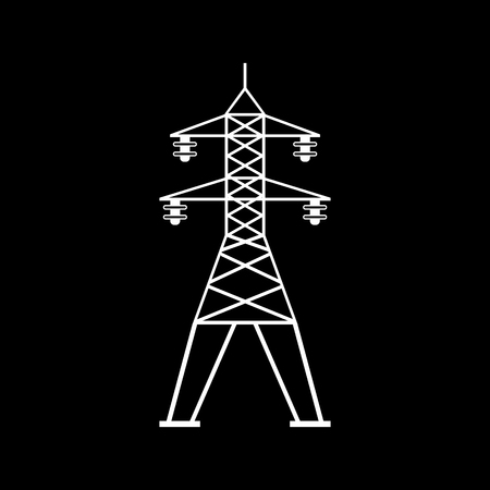 Power line communication vector icon