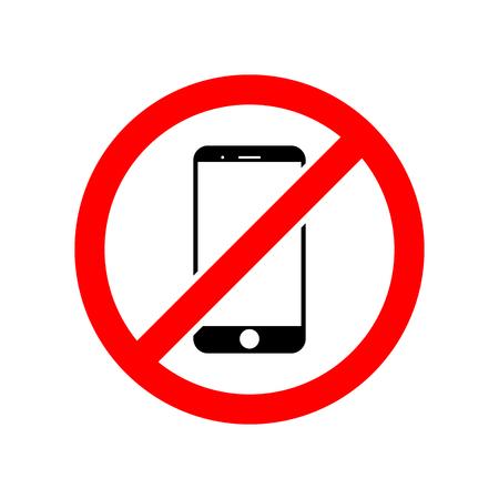No mobile phone vector icon Ilustrace