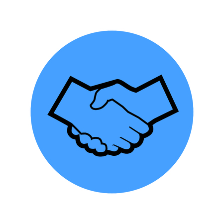 handshakes vector icon