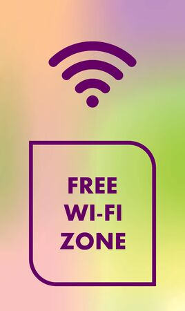 wifi internet free Illusztráció