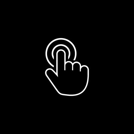 One cursor finger hand vector icon