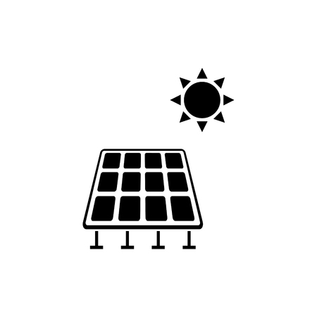 Solar powered vector icon