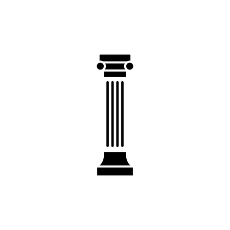 Greek ionic column vector icon