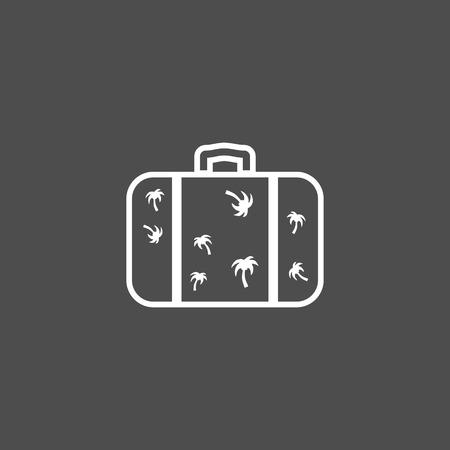 Luggage suitcase vector icon Illusztráció