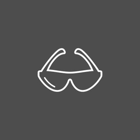 Spectacles vector icon