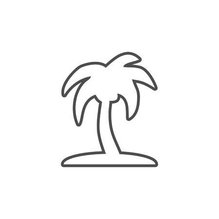 Palma summer vector icon