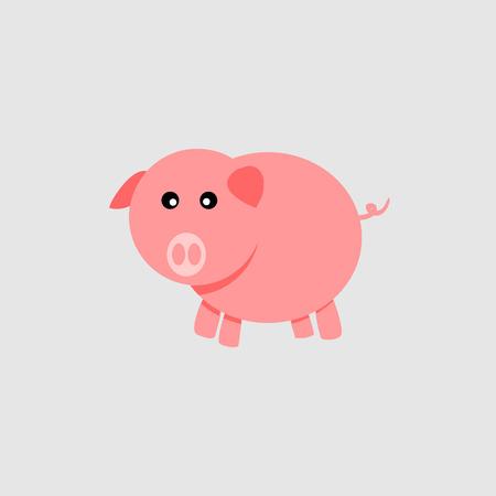 Piggy vector icon