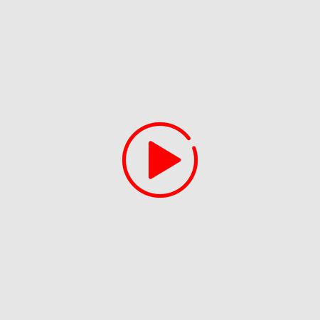 Play button vector icon