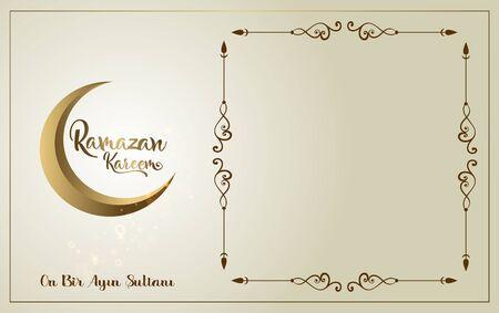 Happy ramadan.Ramadan Kareem poster template. Holy month of muslim community. Illusztráció