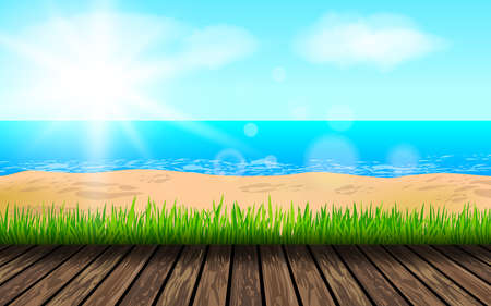 Background for summer vacation.Summer beach background.