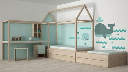 어린이 침실 디자인 스톡 콘텐츠