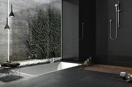 Minimal bathroom design 스톡 콘텐츠