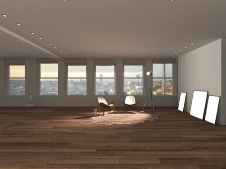 loft: Loft interior design Stock Photo