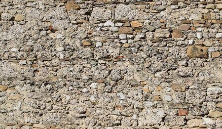 빈티지 벽돌과 돌 담, 배경 질감