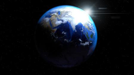 태양과 구름, 인도와 중동 게재 공간에서 지구 글로브 스톡 콘텐츠