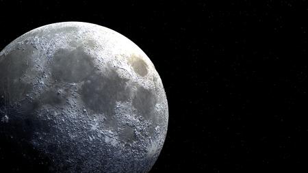 보름달 글로브 공간에서 햇빛 가까이