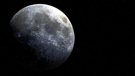 햇빛과 공간에서 보름달 글로브