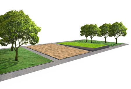 Landscape architecture, park garden concept