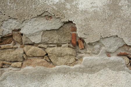 오래 된 손상 된 벽, 가까이 스톡 콘텐츠 - 78976638